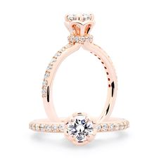 The Veronica Rose Gold Diamond Engagement Ring | JM Edwards Jewelry