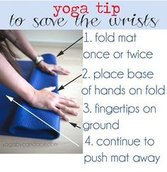 Having trouble holding that #chataranga? Try this easy technique to relieve pressure on your wrists! #YogaTip (via Yoga by Candace) ~ myspiritofyoga.com