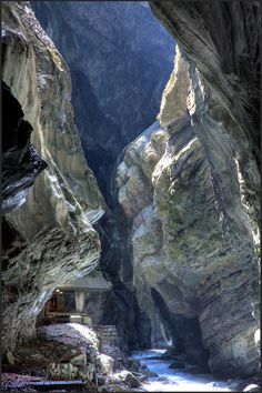 Taminaschlucht bei Bad Ragaz. Kanton St. Gallen. Schweiz. | Tamina Gorge close to Bad Ragaz. Canton of St. Gallen. Switzerland.