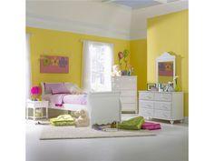 Hillsdale Furniture Bedroom Lauren Bed - Twin, Nightstand, Dresser, And Mirror 1528BTWSR4PC - Great Deals Augusta - Martinez, GA
