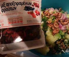 ΜΑΓΕΙΡΙΚΗ ΚΑΙ ΣΥΝΤΑΓΕΣ: Πατατοσαλάτα η απίθανη !!! Dried Fruit, Food And Drink, Beef, Chicken, Meat, Steak, Cubs
