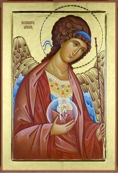 Михаїл Religious Icons, Religious Art, Greek Icons, Catholic Pictures, Byzantine Icons, Archangel Michael, Orthodox Icons, Angel Art, Sacred Art