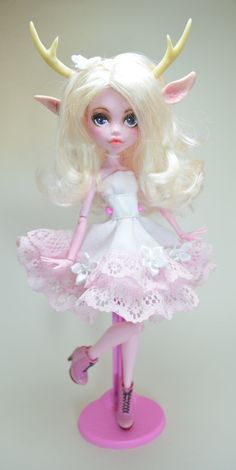 Lilia Fawn Monster High Ooak Doll by artchica83.deviantart.com on @DeviantArt