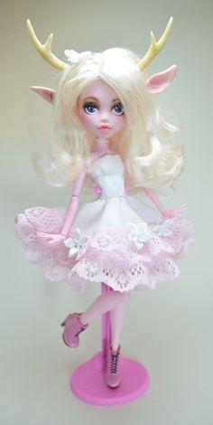 Lilia Fawn Monster High Ooak Doll by artchica83.deviantart.com on @DeviantArt