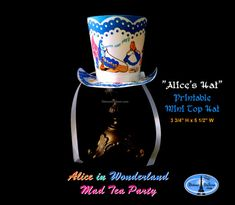 Alice in Wonderland Mini Top Hat Alice in by DetourDuJour on Etsy