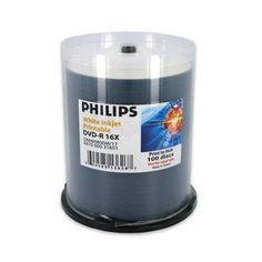 Philips Duplication Grade White Inkjet Hub Printable 16X DVDR Media 100 Pack in Cake Box DM4I6B00M17 ** You can find out more details at the link of the image.