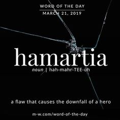 """But of course, everyone has a hamartia"" -Hazel Grace Lancaster Unusual Words, Weird Words, Rare Words, Unique Words, New Words, Cool Words, Fancy Words, Pretty Words, Beautiful Words"