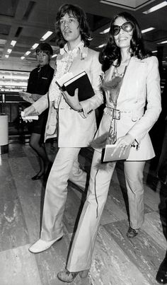 Mick Jagger & Bianca Jagger - Suit Styling
