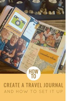Set up and create a Travel Journal Smash Book DIY style. Travel Journal Pages, Travel Journals, Art Journals, Holiday Program, Travel Crafts, Up Book, Creative Journal, Art Journal Inspiration, Journal Ideas