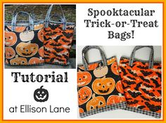 Halloween Trick-or-Treat Bags: Spooktacular Series Day 1! (Giveaway too!) Ellison Lane