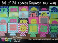 Set of 24 Personalized Koozies - Wedding - Bachelorette - Bachelor - Family Reunions - Trips - SEE DESCRIPTION For SPECIAL