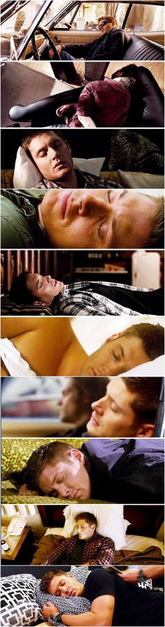 Sleepy Dean gifset *sigh* (I know everything I post if supernatural, but really I can't stop looking at this man)