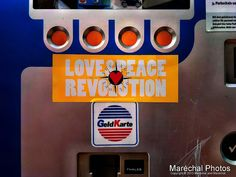 Love & Peace Revolution (Cash and smart card possible)