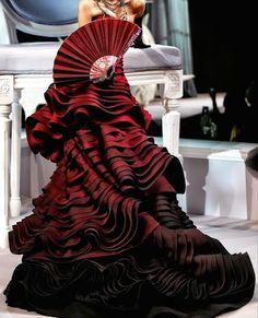ViVi Antoinette Red Haute Couture Designer Gown - love the ombré effect... So gorg!