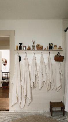 Laundry In Bathroom, Bathroom Storage, Farmhouse Renovation, Farmhouse Decor, Bathroom Inspiration, Bathroom Ideas, Hygge Home, Hearth And Home, Splish Splash