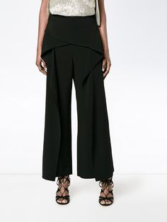 Roland Mouret cropped wide leg trousers
