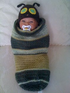 The Hungry Caterpillar...a crocheted cocoon for a baby