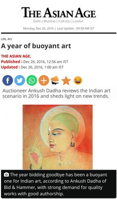 """A work by Jamini Roy being estimated in the 1 crore bracket is an example. Similarly, works by Nandalal Bose, Ramkinkar Baij and the three Tagore's have seen an upward spiral. Also, there has been a tremendous interest in early/Dutch-Bengal works. Jamini Roy, Bengal, Indian Art, Bose, New Trends, Spiral, Dutch, It Works, News"