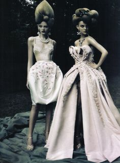 A Dream of a Dress Vogue Italia September 2009 By Paolo Roversi Christian Dior   Fall 2009 Couture