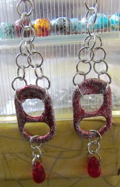 Red Glitter Pop Tab Earrings   https://www.etsy.com/listing/114901663/red-glitter-pop-tab-earrings-with-red
