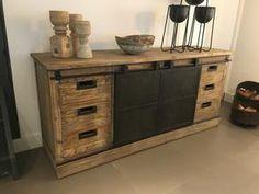 Stoer industrieel dressoir - Kasten - Onz Thuys Living Room Cabinets, Sideboard, Storage, Furniture, Home Decor, Charlotte, Drawers, Kitchens, Living Room