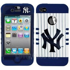 992f96e2 MLB New York Yankees Hybrid Impact Hard Case Cover for Apple iPhone 4 4S  4GS | eBay