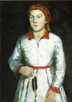 Portrait Of Artist Daughter 1934 Greeting Card for Sale by Malevich Kazimir Statues, Kazimir Malevich, Russian Avant Garde, Avant Garde Artists, Georges Braque, Post Impressionism, Oil Painting Reproductions, Russian Art, Kandinsky