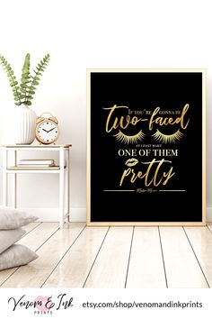 This black and gold decor is perfect for decorating your black and gold bathroom, bedroom, living room or kitchen! This girly art print is a one of a kind black and gold wall art print that will finish off your black and gold room.