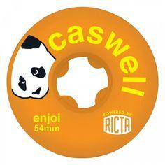 "Ricta Enjoi Caswell SLIX 54mm Wheels. Durometer: 81b| Diameter: 54 mm | Width: 30.5"" mm | Centerset"