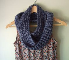 Long Infinity Scarf by DottieQ on Etsy
