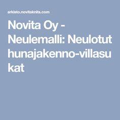 Novita Oy - Neulemalli: Neulotut hunajakenno-villasukat