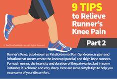 tips to relieve runners knee pain  Visit us  jointpainrepair.com  Via  google images  #jointpain #jointpains #jointpainrelief #kneepain #kneepains #kneepainnogain #arthritis #hipjoint  #jointpaingone #jointpainfree