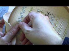 Puncte și cusături ornamentale - Punctul ''Pene duble'' - YouTube