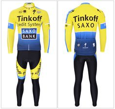 750e3c2ac 2015 New Unisex Autumn Long Sleeve SAXO BANK Jersey   Pant Cycling clothing   Unbranded