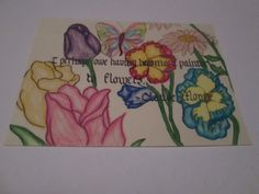Flower Postcard by RoseCityCrafter on Etsy, $3.00