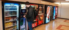 Say hello to your vending machine  Say hello to your vending machine - it might be watching you! Smart phones? Bah! Think BIG. Think public. Think 'Internet of Things You Can't Get Away From'. Think smart vending machines!