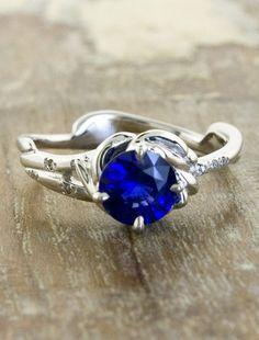 Daya - Blue Sapphire Engagement ring