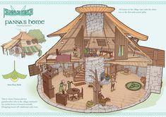 Feng Zhu Design: Term 3 Finals - Entertainment Design - Part 1 Fantasy City, Fantasy House, Fantasy Places, Fantasy Map, Fantasy World, Environment Concept Art, Environment Design, Rpg Map, Fantasy Landscape