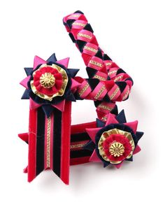 Browband pink and navy, for the horse =) Brilliant!