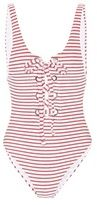 Mara Hoffman Terry Lace-up Maillot