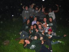 Campers are all smiles at night time with camp counselor Alexa #OvernightTrip #Frenchfun #Memories