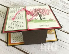 I know it has taken me a while to get to this post. But finally it is here! I first created this Sheltering Tree Seasonal Calendar a long time ago for At the time I created a full … Desk Calender, Desktop Calendar, Diy Calendar, Calendar Pages, Card Making Techniques, Craft Sale, Craft Fairs, Christmas Crafts, Christmas Ideas
