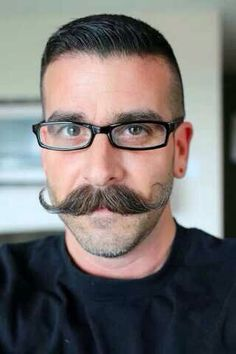 Want your man's mustache to look like this? Send him over to…