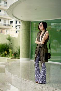 Blog da Lê-Moda e Estílo: Look - Colete + flare