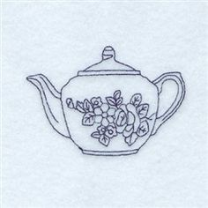 Rosa Teapot embroidery design