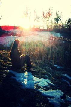 #sunset #snow #winter #indie #hippie #girl #fashion #gunge #style #forest