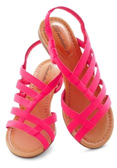 ModCloth White Sand Shores Sandal in Pink