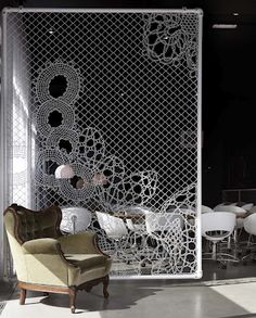 Turning Chain Link Fencing Into Art. Lace Fences By Demakersvan