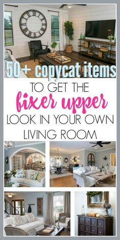 50+ copycat items picked especially for you to achieve the fixer upper farmhouse style in your own living room.