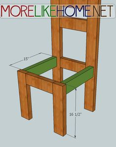 More Like Home: Day 4 - Build a Simple Chair with 2x4s